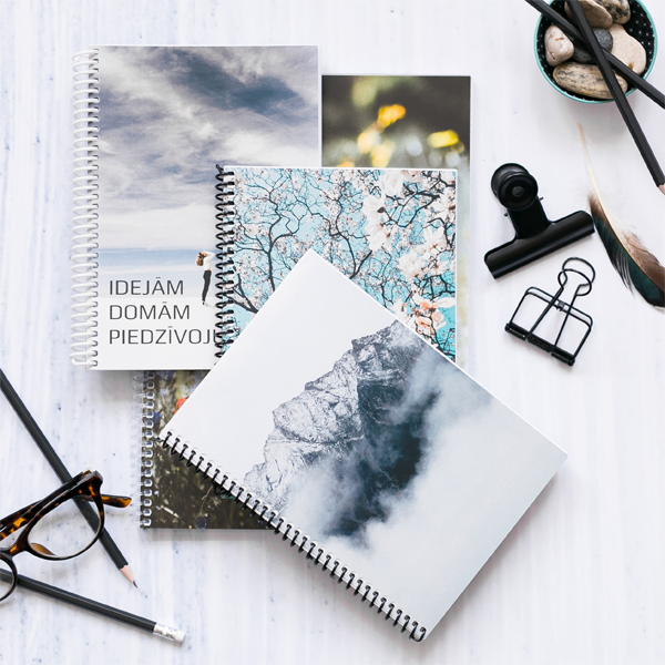 Personalized spiral notebooks